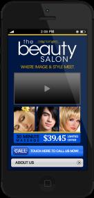 beauty salon mobile demo