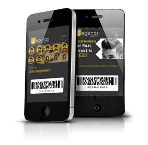 Barber Hair Salon Mobile Punch Cards